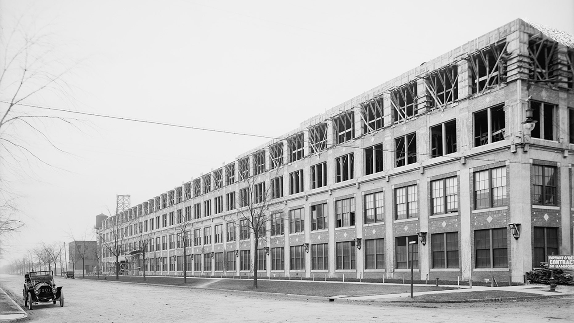 historic Packard Automotive Plant circa 1910