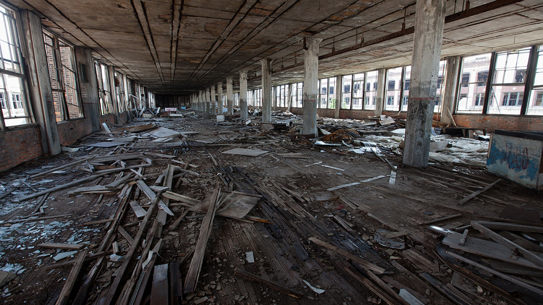 historic Packard Automotive Plant inside
