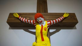 Controversial 'McJesus' art sculpture defended by Israel