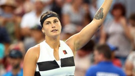 Two fans fight over tennis star Aryna Sabalenka's sweaty headband following match