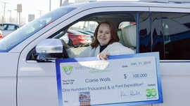 Virginia woman whose husband is furloughed by government shutdown wins $100K, car in lottery