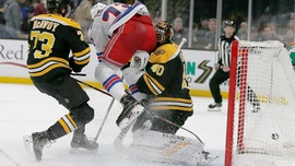 Boston Bruins goalie Tuukka Rask leaves NHL game with concussion after hard collision