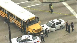 Driver with gunshot wound crashes into Texas school bus, students uninjured: police
