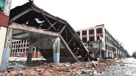 Historic Packard Automotive Plant bridge collapses in Detroit