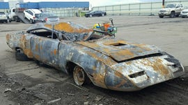 Burned and busted 1970 Plymouth Superbird could sell for big bucks