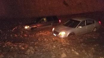 Mudslides trap California drivers including rapper Soulja Boy, close major highway