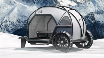 BMW designed a lightweight camper with The North Face's new high-tech fabric