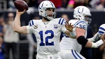 Luck throws for 2 TDs to lead Colts over Texans 21-7 in wild card