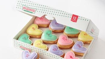 Krispy Kreme unveils 'Conversation Doughnuts' for Valentine's Day amid rumored Sweethearts shortage