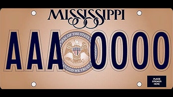 Mississippi unveils new state license plates with 'In God We Trust'