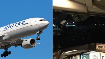 United passenger claims airline covering up 'near-death' incident that almost resulted in pilots being 'sucked out of the plane'