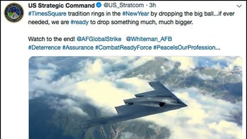 US military tweets, then deletes strange New Year's Eve message about dropping bombs after outcry