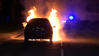 Flat tire caused car fire on drunk driver's car