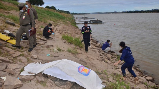 Concrete-filled bodies from Thailand river were missing activists, police say