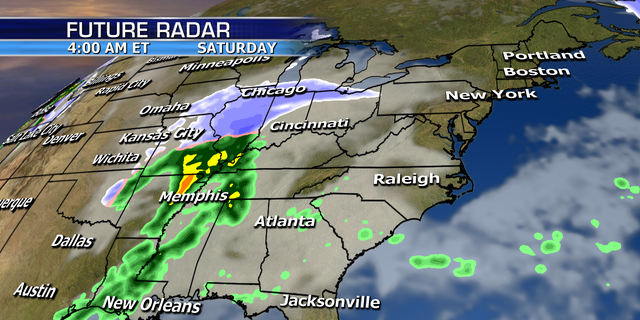 The storm will impact the Midwest on Saturday before targeting the Northeast.