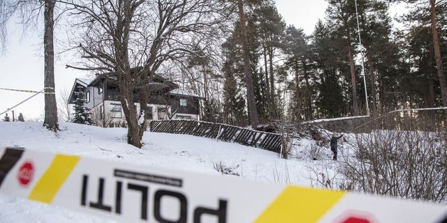 A view of the home of missing woman Anne-Elisabeth Falkevik Hagen, the wife of one of Norway's richest men, Tom Hagen, in Fjellhamar, Norway, Wednesday, Jan. 9, 2019. Norwegian police say the wife of one of Norway's richest men may have been abducted and a demand for 9-million euro ($10.3-million) ransom in a cryptocurrency, considered a popular virtual currency among cyber-criminals, has been made.