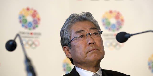This is a Thursday, Jan. 10, 2013 file photo of Tsunekazu Takeda, President of the Tokyo 2020 Olympic games bid. France's financial crimes office says International Olympic Committee member Takeda is being investigated for corruption related to the 2020 Tokyo Olympics.