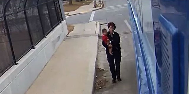 Irene Ivic rescued a baby who was walking barefoot and alone on Dec. 22, 2017.