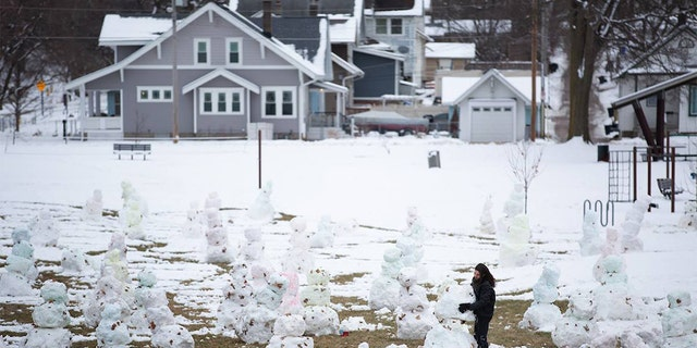 Some people count sheep when they can't fall sleep. Others apparently build snowmen – dozens of them.