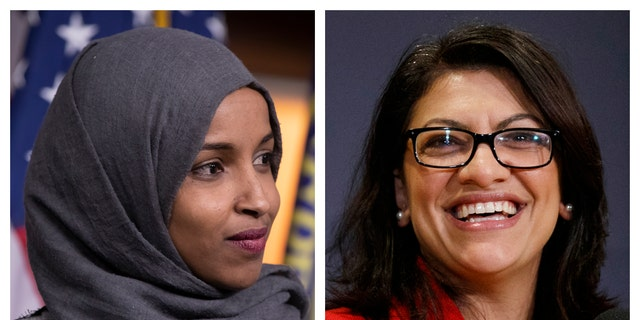 Ilhan Omar of Minnesota (left) and Rashida Tlaib of Michigan are the first Muslim women elected to Congress.