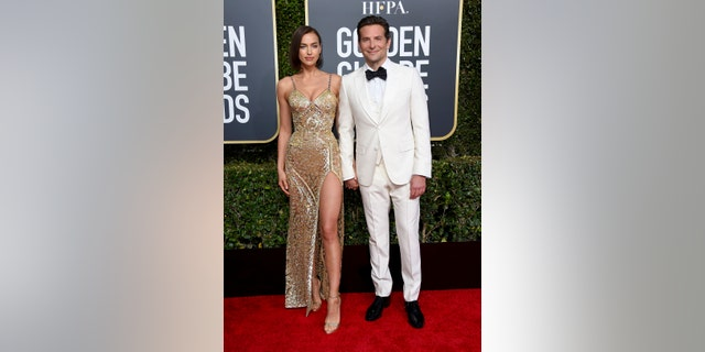 Irina Shayk and Bradley Cooper make a rare red carpet appearance together at the 2019 Golden Globes.