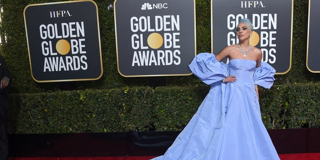 Lady Gaga arrives at the 76th annual Golden Globe Awards at the Beverly Hilton Hotel on Sunday, Jan. 6, 2019, in Beverly Hills, Calif. (Photo by Jordan Strauss/Invision/AP)