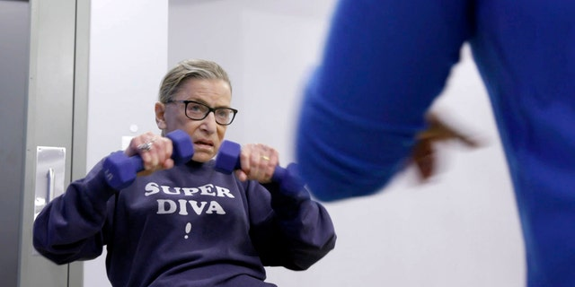 Supreme Court Justice Ruth Bader Ginsburg often works out -- and her routine isn't easy.