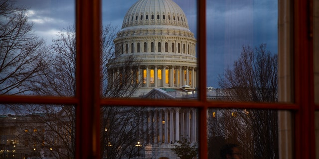 The Capitol is seen from the Russell Senate Office Building on Wednesday, Jan. 9, 2019. T(AP Photo/J. Scott Applewhite)