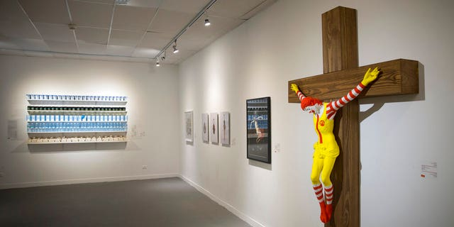 Sculpture of crucified Ronald McDonald sparks uproar in Israel
