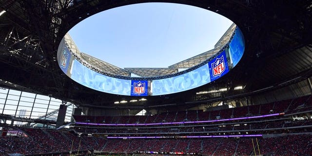 In this Sunday, Dec. 2, 2018, photo, the Atlanta Falcons playing the Baltimore Ravens at the Mercedes-Benz stadium in Atlanta last month. (AP Photo/Danny Karnik, File)