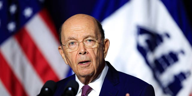 FILE - In this July 16, 2018, file photo, Department of Commerce Secretary Wilbur Ross speaks to the Department of Commerce in Washington. (AP Photo/Manuel Balce Ceneta, File)