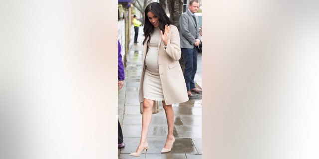 Meghan The Duchess of Sussex arrives at the Mayhew animal welfare charity on Wednesday Jan. 16, 2019, to meet with volunteers to hear about welfare initiatives, community engagement and international projects carried out by the charity. This is Her Royal Highness's first official visit to Mayhew in her new role as Patron of the charity. (Eddie Mulholland/pool via AP)