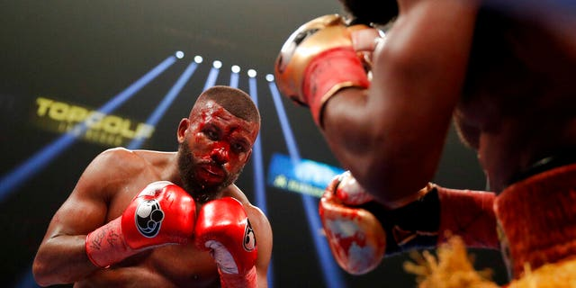 Badou Jack, left, fights Marcus Browne in the WBA interim light heavyweight title boxing bout.