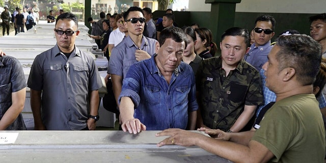 Philippine President Rodrigo Duterte (pictured in January) has been openly critical of journalists who have covered him in an unfavorable manner