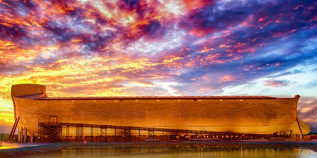 The Ark Encounter, located in Williamstown, Kentucky, features a modern-day, life-size version of Noah's Ark.