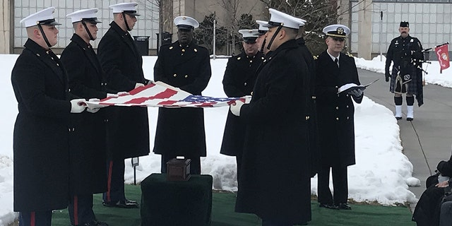 R. Lee Ermey was laid to rest at Arlington National Cemetery on Friday, Jan. 18, 2019.