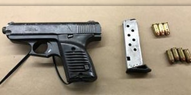 The weapon found on Artavious Coleman after a violent struggle with police on Sunday.
