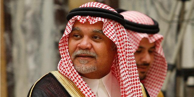 Saudi Prince Bandar bin Sultan seen at his palace in Riyadh, Saudi Arabia (2008 image).
