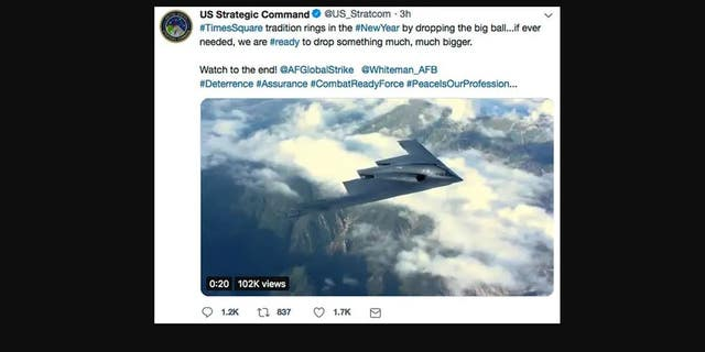 A Video Shared As Part Of The Tweet Reportedly Included Footage B 2 Stealth Er Soaring Across Sky Before Releasing Two Gps Guided S That