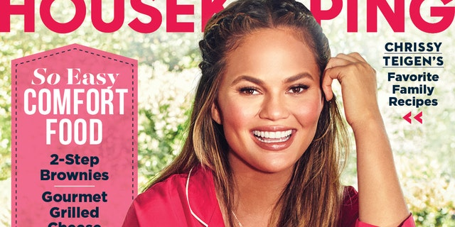 "Chrissy Teigen on the cover of ""Good Housekeeping."""