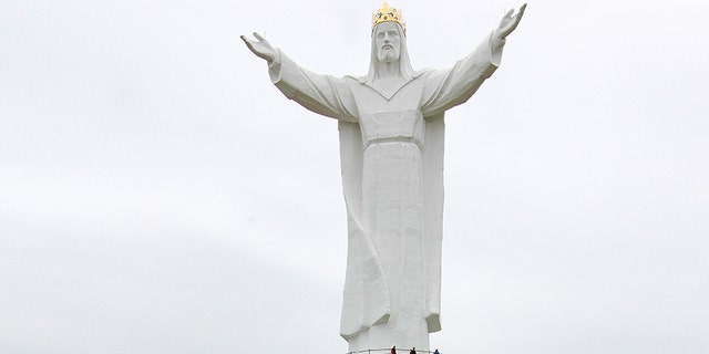 Christ the King statue in Świebodzin, Poland is currently the tallest statue of Jesus in the world reaching 172 feet off the ground.