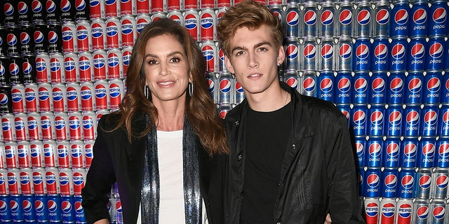 Cindy Crawford and Presley Gerber at Pepsi Generations Live Pop-Up on February 2, 2018 in Minneapolis, Minnesota.