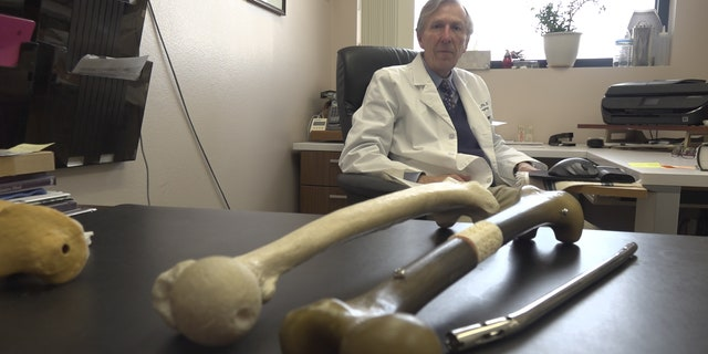 """""""We could regenerate their bone by 3D printing a scaffold that's specific to that bone and that patient and then filling it with stem cells from that patient, adult stem cells,"""" Dr. Szivek said."""
