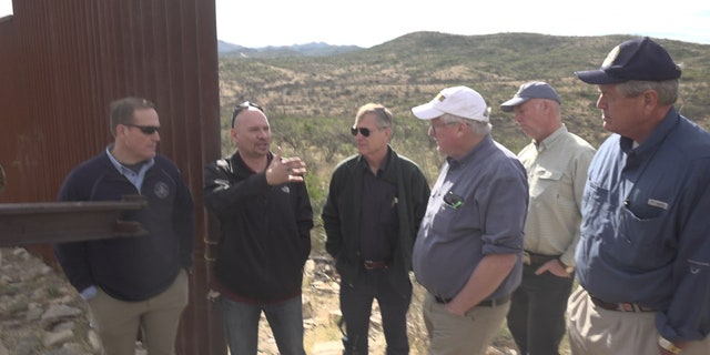 It's the first time in history Border Patrol says congressmen have visited this part of the border--the wall that stops about a mile-and-a-half from the Sasabe, AZ Point of Entry.