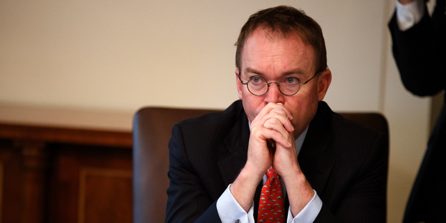 """We are not going to cut our way to balance,"" White House chief of staff Mick Mulvaney said during a recent panel discussion. (AP Photo/Evan Vucci, File)"