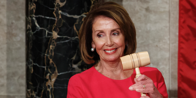 House Speaker Nancy Pelosi of California holds the gavel after at the Capitol in Washington, Thursday, Jan. 3, 2019. (AP Photo/Carolyn Kaster)