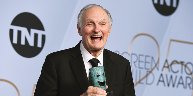 Alan Alda poses with the Life Achievement Award in the press room at the 25th annual Screen Actors Guild Awards at the Shrine Auditorium & Expo Hall on Sunday, Jan. 27, 2019, in Los Angeles.