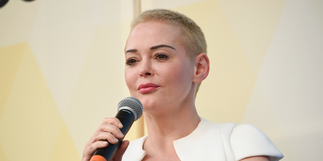 """Actress-turned-activist Rose McGowen mocked the Washington Post as """"not journalism."""" (Photo by Evan Agostini/Invision/AP, File)"""