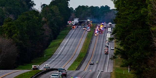 Interstate 75 was shut down in both directions after the crash on Thursday, Jan. 3, 2019.
