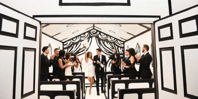 """The """"Til Death Do Us Part"""" installation opens on Friday at the Palms Casino Resort in Las Vegas."""